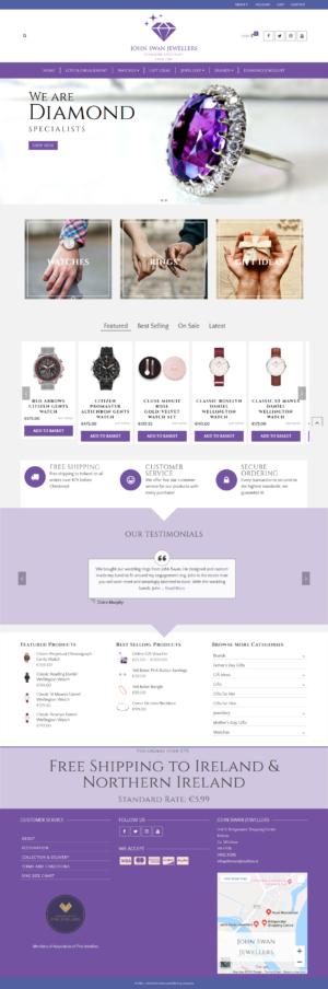 e-commerce website for diamond jewellers by zonua