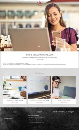 e-learning website for go learn digital by zonua