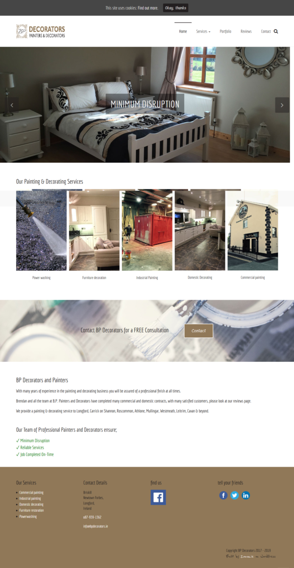 wordPress website for a painting company by zonua