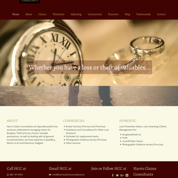 wordpress website for harris claims consultants by zonua