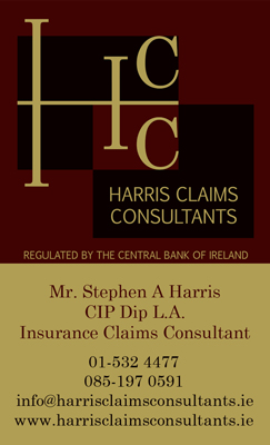 business card of harris claims consultants