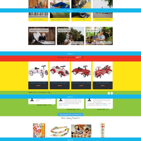 e-commerce website for online toys shop