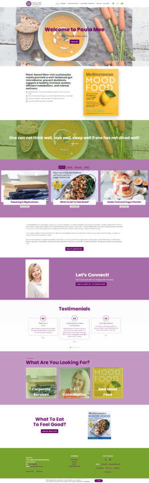ecommerce website blog for clinical dietitian
