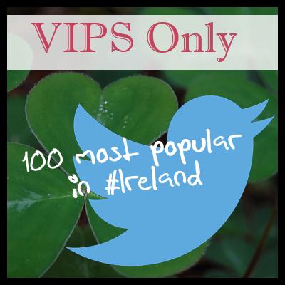 Top 100 Most Popular Individual/Personal Irish Tweeters