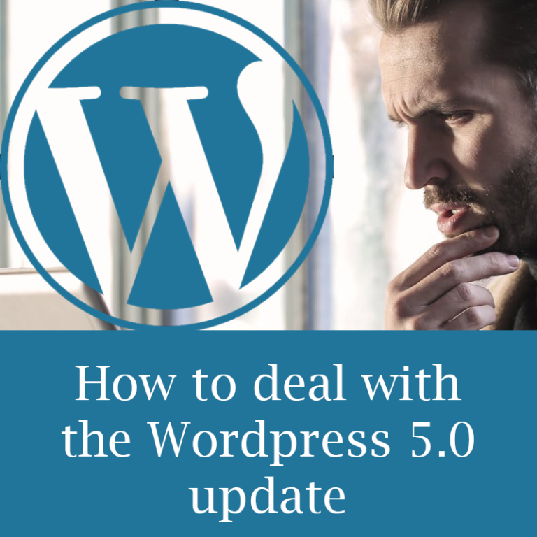 How to deal with the WordPress 5.0 update
